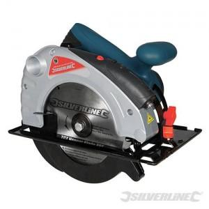Scie circulaire Silverstorm 185 mm 1 400 W avec guide laser