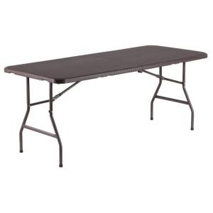 Table pliante rectangle 183cm x 76cm, pliante en malette