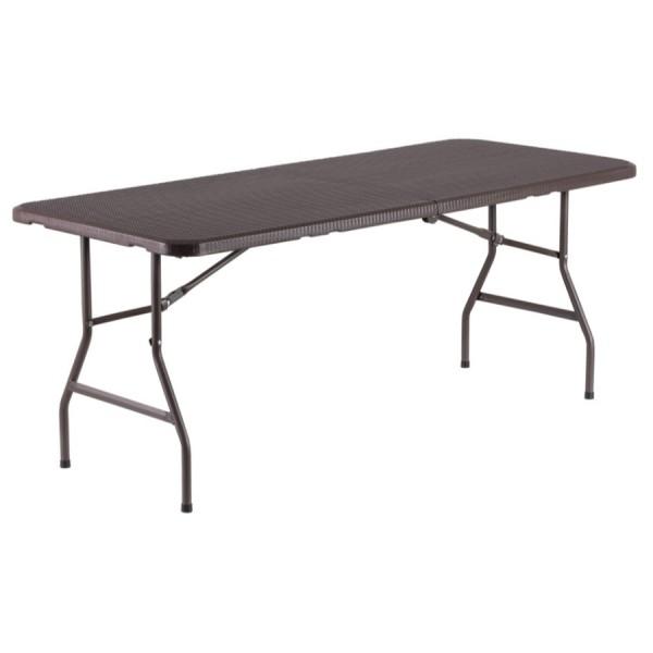 table pliante rectangle 183cm x 76cm pliante en malette. Black Bedroom Furniture Sets. Home Design Ideas