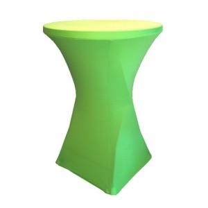 Housse Lisse Spandex VERTE pour table pliante ronde mange debout, Diamètre 80 cm