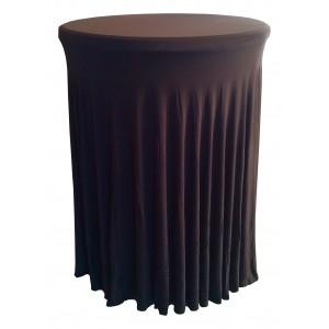 Housse Ondulée NOIRE Spandex pour table pliante Mange debout Diamètre 80 cm
