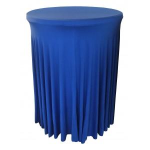Housse Ondulée BLEUE Spandex pour table pliante Mange debout Diamètre 80 cm
