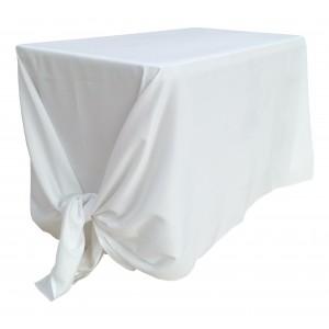 Nappe Lisse Style 3 Polyester BLANCHE pour table pliante rectangle 122cm x 61cm