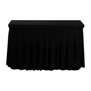 Housse Ondulée Spandex NOIRE pour table pliante rectangle 122cm x 61cm