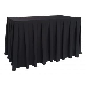 Nappe Ondulée 4 Polyester NOIRE pour table pliante rectangle 122cm x 61cm