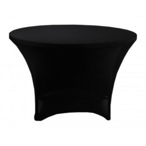 Housse Lisse Spandex NOIRE pour table pliante ronde Diamètre 122cm