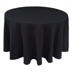 Nappe Ondulée 3 Polyester NOIRE pour table pliante ronde Diamètre 122cm