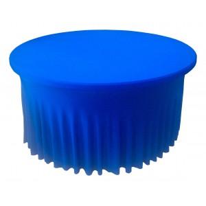 Housse Ondulée Spandex BLEUE pour table pliante ronde Diamètre 150 cm