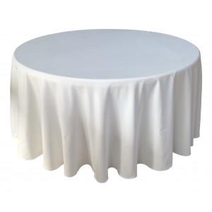 Housse Ondulée 3 Polyester BLANCHE pour table pliante ronde Diamètre 150 cm