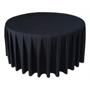 Housse Ondulée 4 Polyester NOIRE pour table pliante ronde Diamètre 150 cm