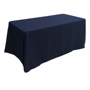 Nappe Lisse 3 Polyester NOIRE pour table pliante rectangle 152cm x 76cm