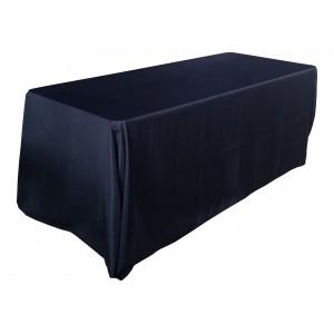 Nappe Lisse 3 Polyester NOIRE pour table pliante rectangle 183cm x 76cm