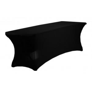 Housse Lisse Spandex NOIRE pour table pliante rectangle 240cm x 76cm