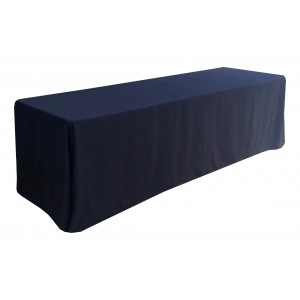 Nappe Lisse 3  NOIRE pour table pliante rectangle 240cm x 76cm