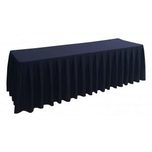 Nappe Ondulée 4  NOIRE pour table pliante rectangle 240cm x 76cm