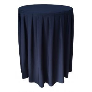 Nappe Ondulée 4 Polyester NOIRE pour table pliante ronde mange debout Diamètre 80cm