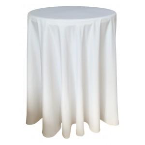 Nappe Ondulée 3 Polyester BLANCHE pour table pliante ronde mange debout Diamètre 80cm