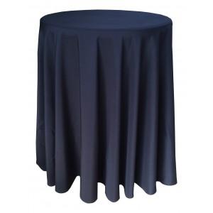 Nappe Ondulée 3 Polyester NOIRE pour table pliante ronde mange debout Diamètre 80cm