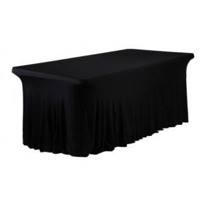 Housse Ondulée Spandex NOIRE pour table pliante rectangle 200cm x 90cm