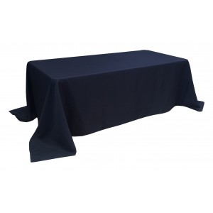 Nappe Lisse Style 3 NOIRE pour table pliante rectangle 200cm x 90cm