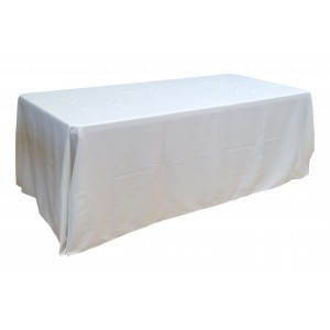 Nappe Lisse Style 3 BLANCHE pour table pliante rectangle 200cm x 90cm