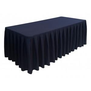 Nappe Ondulée Style 4 NOIRE pour table pliante rectangle 200cm x 90cm