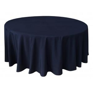 Housse Ondulée 3 Polyester NOIRE pour table pliante ronde Diamètre 180 cm