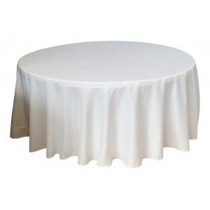 Housse Ondulée 3 Polyester BLANCHE pour table pliante ronde Diamètre 180 cm