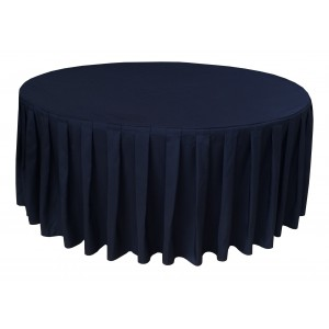 Housse Ondulée 4 Polyester NOIRE pour table pliante ronde Diamètre 180 cm