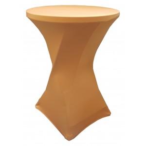 Housse Lisse Spandex DOREE pour table pliante ronde mange debout, Diamètre 80 cm
