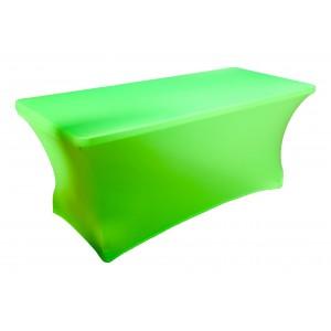 Housse Lisse Spandex VERTE pour table pliante rectangle 152cm x 76cm
