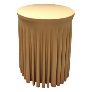 Housse Ondulée DOREE Spandex pour table pliante Mange debout Diamètre 80 cm