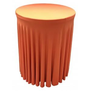 Housse Ondulée ORANGE Spandex pour table pliante Mange debout Diamètre 80 cm