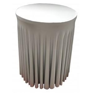 Housse Ondulée ARGENTE Spandex pour table pliante Mange debout Diamètre 80 cm