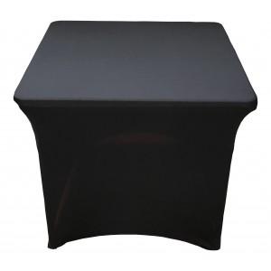 Housse Lisse Spandex NOIRE pour table pliante carrée 87cm x 87cm