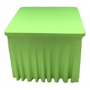 Housse Ondulée Spandex Verte pour table pliante carrée 87cm x 87cm