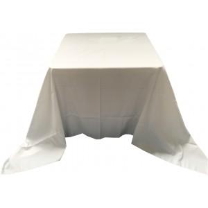 Nappe Ondulée 3 Polyester BLANCHE pour table pliante carrée 87cm x 87cm