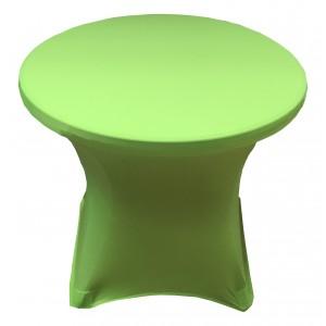 Housse Lisse Spandex VERTE pour table pliante ronde, Diamètre 80 cm