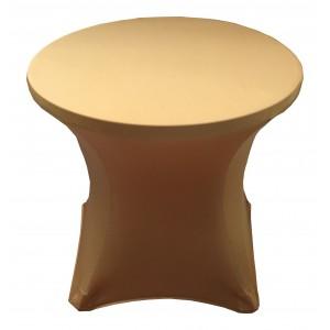 Housse Lisse Spandex BLEUE pour table pliante ronde, Diamètre 80 cm