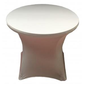 Housse Lisse Spandex DOREE pour table pliante ronde, Diamètre 80 cm