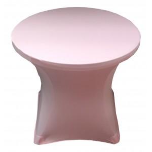 Housse Lisse Spandex ARGENTEE pour table pliante ronde, Diamètre 80 cm