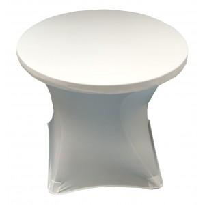 Housse Lisse Spandex ROSE pour table pliante ronde, Diamètre 80 cm