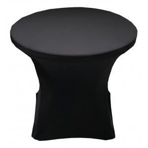 Housse Lisse Spandex BLANC pour table pliante ronde, Diamètre 80 cm