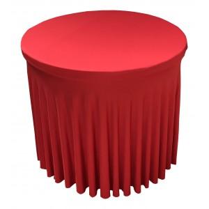 Housse Ondulée ROUGE Spandex pour table pliante Diamètre 80 cm