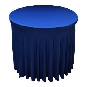 Housse Ondulée ORANGESpandex pour table pliante Diamètre 80 cm