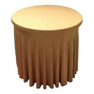 Housse Ondulée BLEUE Spandex pour table pliante Diamètre 80 cm