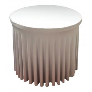 Housse Ondulée DOREE Spandex pour table pliante Diamètre 80 cm