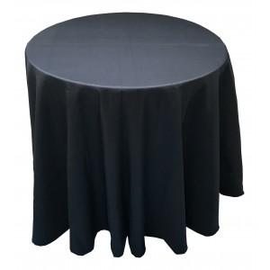 Nappe Ondulée 3 Polyester NOIRE pour table pliante ronde Diamètre 80cm