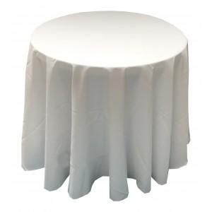 Nappe Ondulée 3 Polyester BLANC pour table pliante ronde Diamètre 80cm