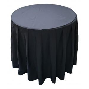 Housse Ondulée 4 Polyester BLANCHE pour table pliante ronde Diamètre 80 cm
